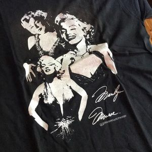 Vintage 1990 Marilyn Monroe Black T-shirt XL